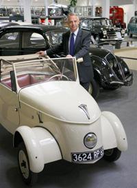 Xavier Peugeot, Direktor marketinga i komunikacija Peugeota, u Muzeju Aventure Peugeot u Sochauxu